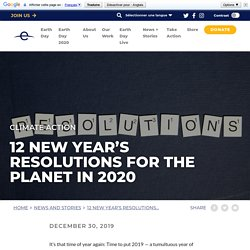12 New Year's resolutions for the planet in 2020