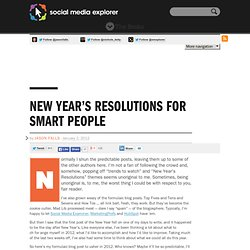 New Year's Resolutions For Smart People