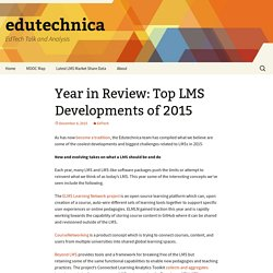 Year in Review: Top LMS Developments of 2015