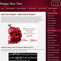 New Year Shayari 2017, Naye Saal Ki Shayari 2017