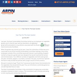Year Two For The Arpin Garden
