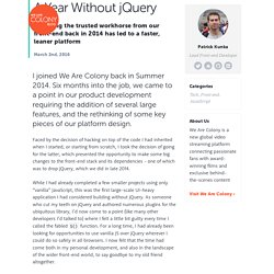 A Year Without jQuery
