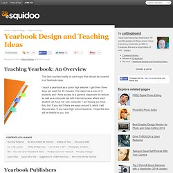 Yearbook Design and Teaching Ideas