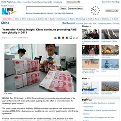 Xinhua Insight: China continues promoting RMB use globally in 20