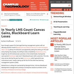 In Yearly LMS Count Canvas Gains, Blackboard Learn Loses