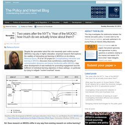 Two years after the NYT's 'Year of the MOOC': how much do we actually know about them?
