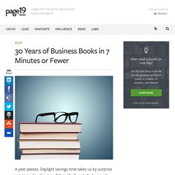 30 Years of Business Books in 7 Minutes or Fewer