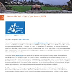 25 Years of EdTech – 2002: Open licences & OER