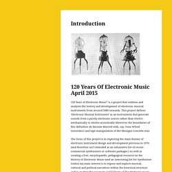 The history of electronic music from 1800 to 2015