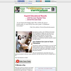 12 Years of Homeschool Curriculum for You