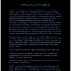 2000 Years of Jewish Ritual Murder
