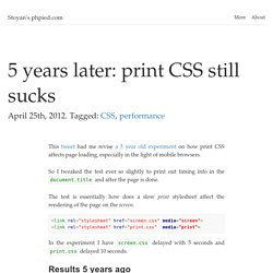 5 years later: print CSS still sucks