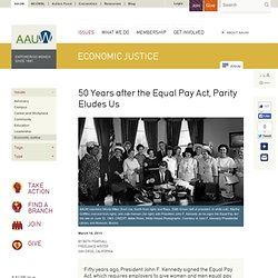 50 Years after the Equal Pay Act, Parity Eludes Us