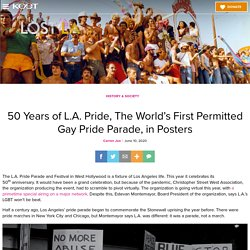 50 Years of L.A. Pride, The World's First Permitted Gay Pride Parade, in Posters