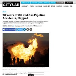 30 Years of Oil and Gas Pipeline Spills, Mapped