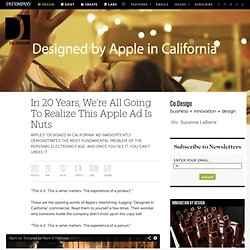 In 20 Years, We're All Going To Realize This Apple Ad Is Nuts