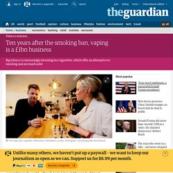 3.8.1 Ten years after the smoking ban, vaping is a £1bn business