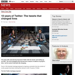 10 years of Twitter: The tweets that changed lives