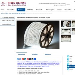 3 Years warranty IP67 Waterproof 100m/roll led strip light 220-240v - DERUN LED