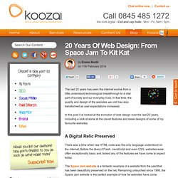 20 Years Of Web Design: From Space Jam To Kit Kat