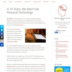 In 10 Years, We Won't Use Personal Technology