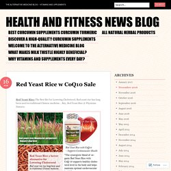 Health and Fitness News Blog