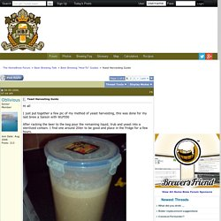 Yeast Harvesting Guide - The HomeBrew Forum