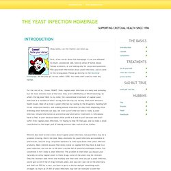 the yeast infection homepage