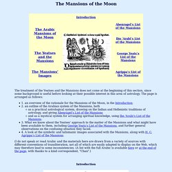 """W. B. Yeats and """"A Vision"""": The Arab Mansions of the Moon"""