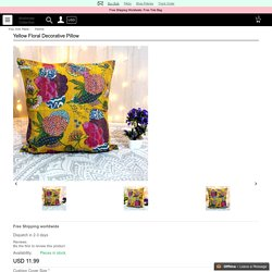 Shop Yellow Floral Decorative Pillow
