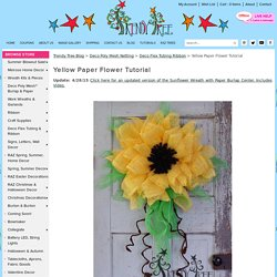 Yellow Paper Flower Tutorial - Trendy Tree Blog