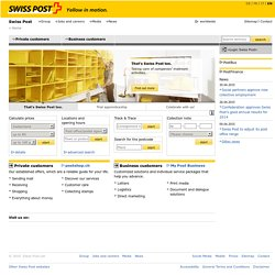 Yellow in motion. - Swiss Post