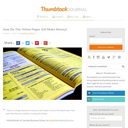 How Do The Yellow Pages Still Make Money? - Thumbtack Journal
