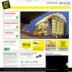 Big Yellow Self Storage: Storage rooms across the UK & London.