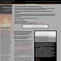 1963-1966 IsraelArgentinaYellowcake Connection