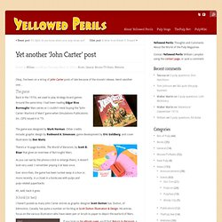 Yellowed Perils: Yet another 'John Carter' post