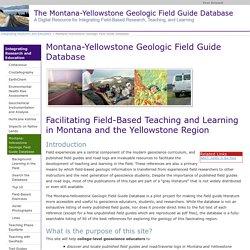 Montana-Yellowstone Geologic Field Guide Database