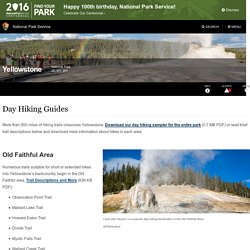 Day Hiking Guides - Yellowstone National Park (U.S. National Park Service)
