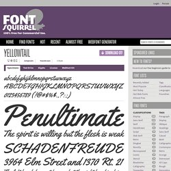 Free Font Yellowtail by Astigmatic