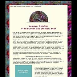 Yemaya : Goddess of the Ocean and The New Year