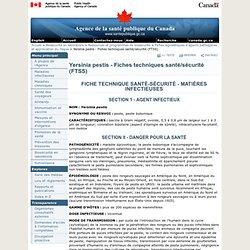 Yersinia pestis - Fiches techniques santé/sécurité (FTSS)