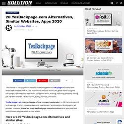 20 YesBackpage.com Alternatives, Similar Websites, Apps 2020