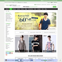 Men – Asian Fashion - Tees / T-Shirts, Casual Tops, Shirts, Denims & Jeans, Pants, Shorts, Sets, Sweaters, and more