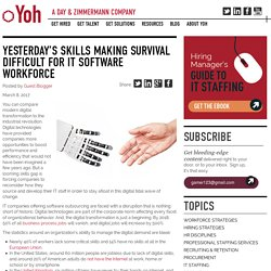 Yesterday's skills making survival difficult for IT software workforce