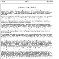 7005-2 : Yggdrasill, L'Arbre Scandinave