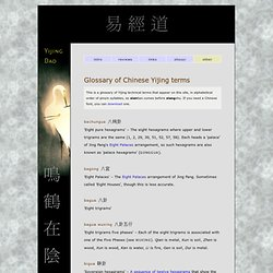 Yijing Dao - Glossary of Chinese Yijing terms