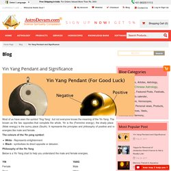 Yin Yang Pendant And Significance