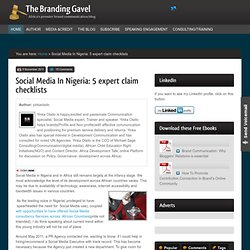 Social Media In Nigeria: 5 expert claim checklists | The Branding Gavel
