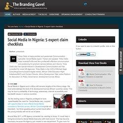Social Media In Nigeria: 5 expert claim checklists | The Branding Gavel