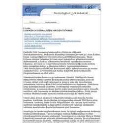 Yhteiskuntaluokan käsite (TYT / Avoin yliopisto - Sosiologian verkko-opinnot, luku 6)